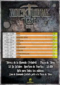 Rocktubre - Cartel Horarios HD Actualizado
