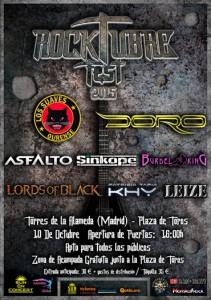 Rocktubre Fest - Cartel pequeño Actualizado