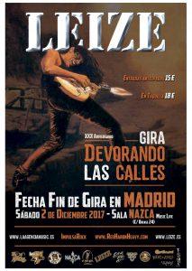 Cartel concierto Leize en Madrid