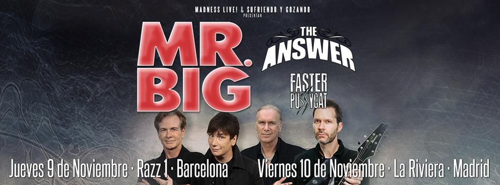 Encabezado gira española de MR. BIG