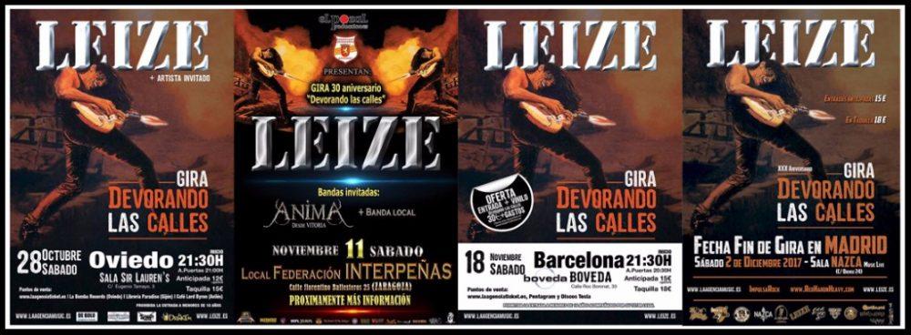Oviedo, Zaragoza, Barcelona y Madrid