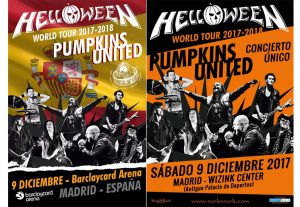 Cartel Helloween Madrid