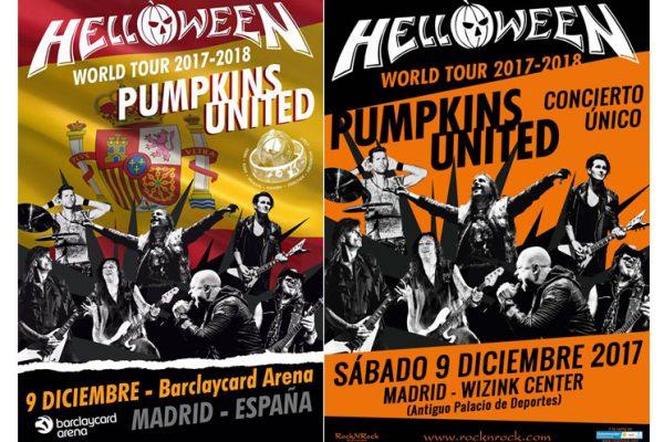 Cartel Helloween Madrid